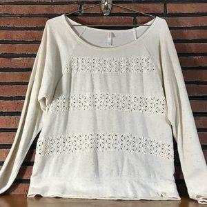 Xhilatation Cream Sweatshirt SZ-L